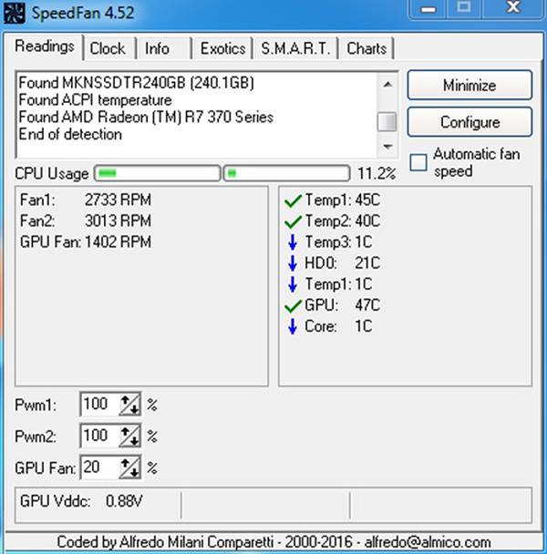 Phầm mềm đo nhiệt độ CPU