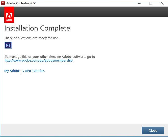 Cài đặt Adobe Photoshop CS6