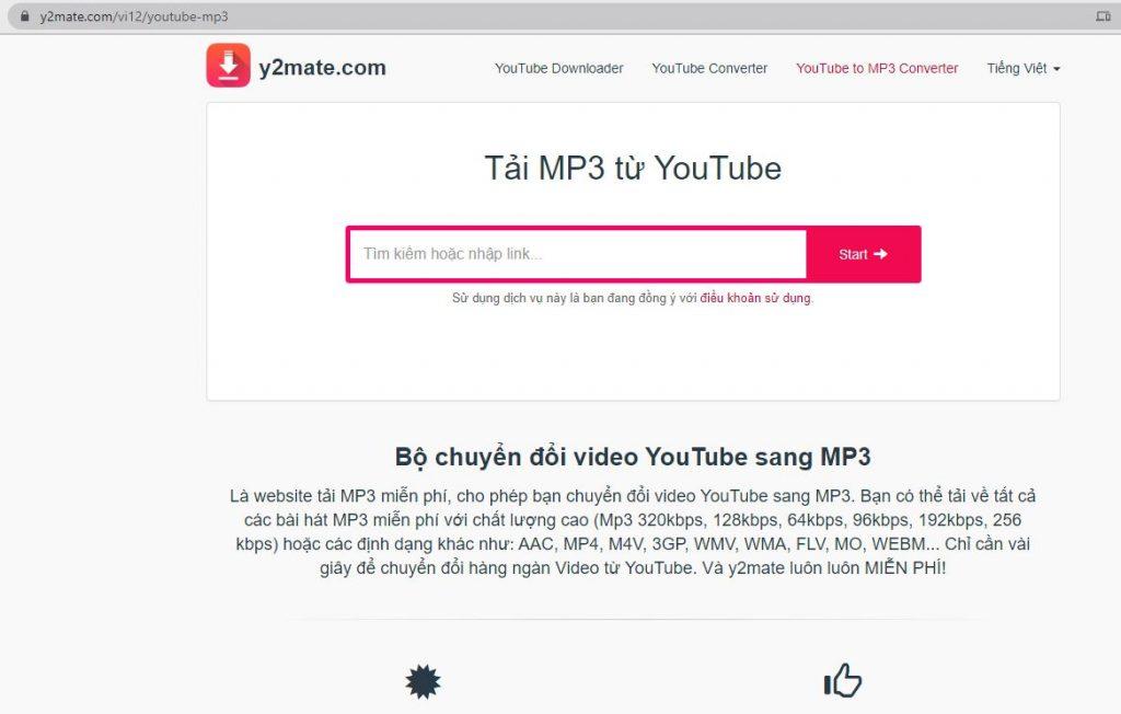 Cách tải file mp3 trên Youtube