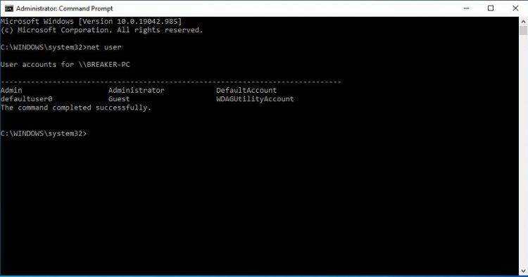 Cách đổi mật khẩu windows 10 bằng CMD