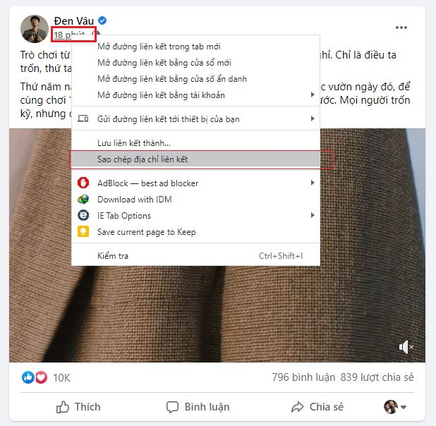 Tải video từ Facebook